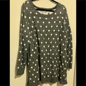 Comfy gray polka dot sweater